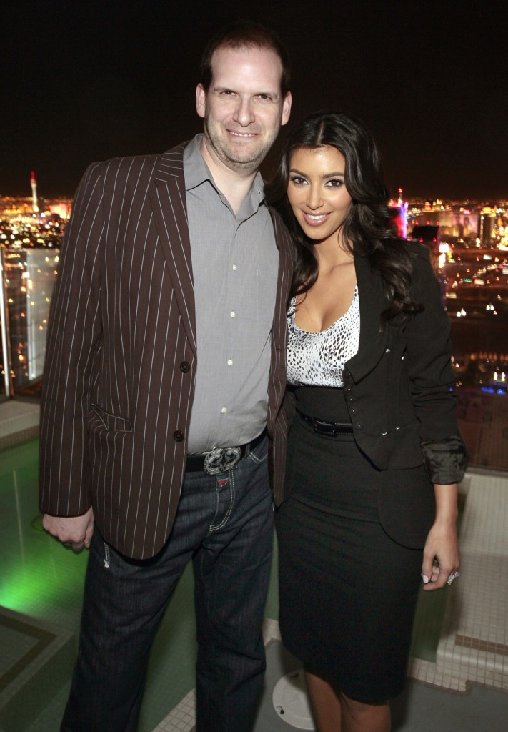 With Kim Kardashian atop Palms Place photo courtesy Los