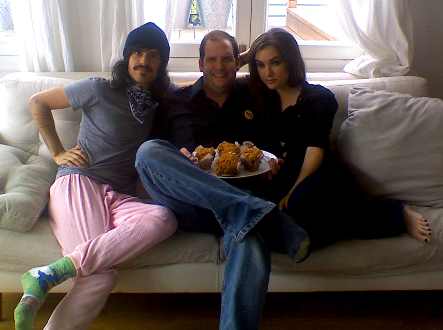 Sasha Grey asked me to hold her muffin. Devendra wore pink PJs.