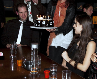 Celebrating Sasha Grey's 21st Birthday at TAO, Las Vegas
