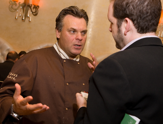 Talking to Chef Payard (pic actually from '09, I forgot to snap a pic with him this time)