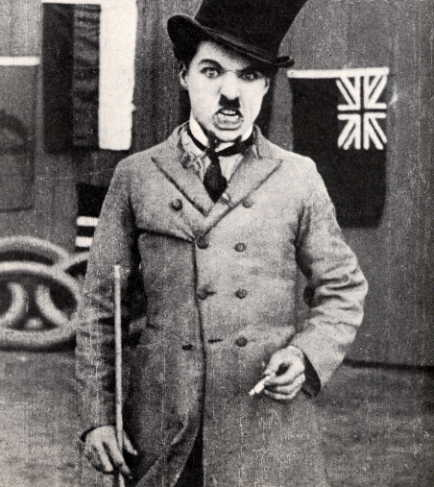 Charlie Chaplin in his first film, Edendale, 1914
