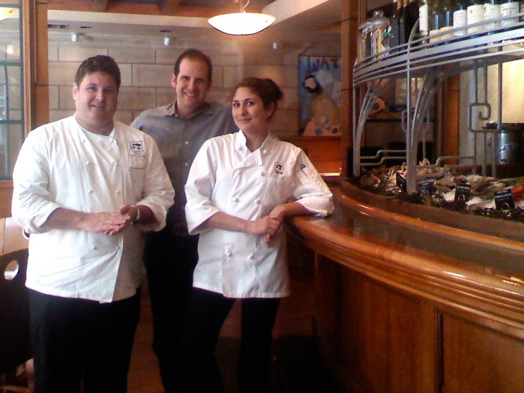 At the Raw Bar with Water Grill's David LeFevre and Amanda Baumgarten