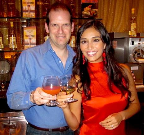With Cazadores' Tania Oseguera