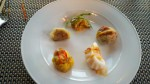 """Five Blessings of the New Year"" siu mai, shrimp, pork and vegetable dumplings"