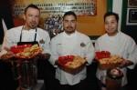 Chefs Noe Alcala, Tino Guzman and Michael Vargas