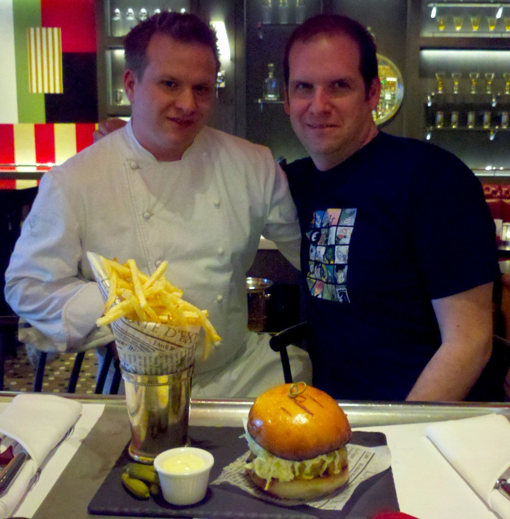 With Chef Brian Howard and the glorious Comme Ça burger