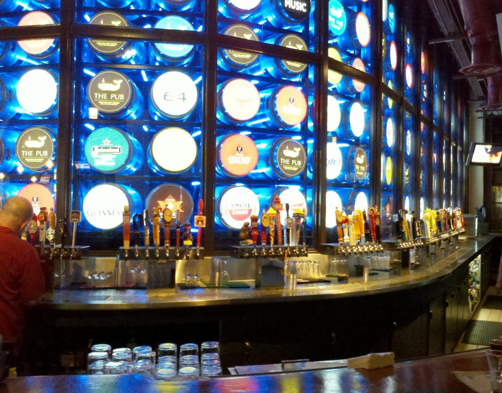The Pub at Monte Carlo's 136 taps. Go ahead, count them. I'll wait.