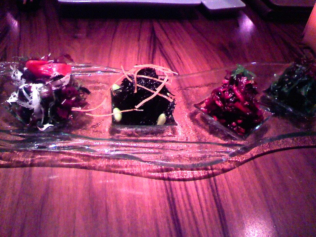 A seaweed tasting at Shibuya, MGM. Just one of HUNDREDS of amazing dishes I've eaten in Las Vegas.