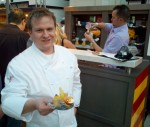 "Comme Ca Vegas' obsessive new Exec Chef, Brian Howard (his ""tasting"" had three parts--see what I mean?)"