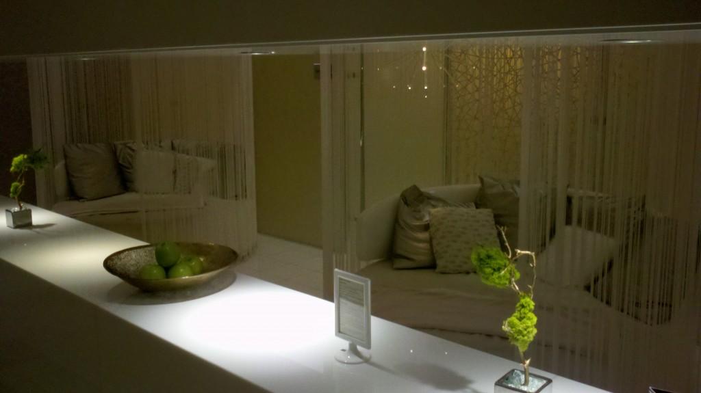 Inside the stylish spa