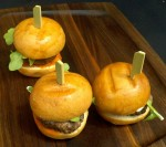 "Lamb ""sliders"" from BLT Steak's new cousin GO Burger. One of the most popular bites of the event."