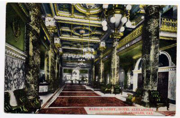 This is what the lobby looked in its heydey. Gorbals is just to the right...