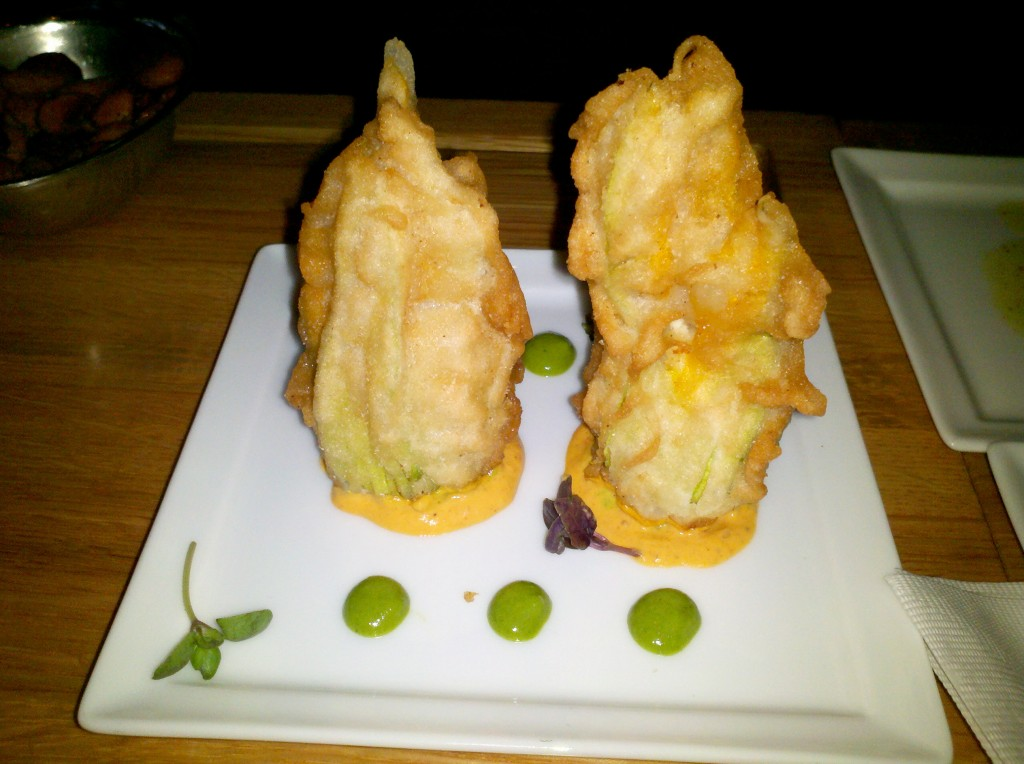 Tempura squash blossoms. Would you believe this was our favorite?