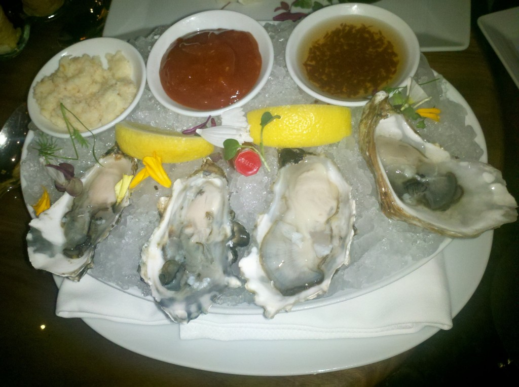 Four Miyago Oysters for $10? You might find them a tiny bit cheaper elsewhere (most places they're $3 each). You surely won't find them better.