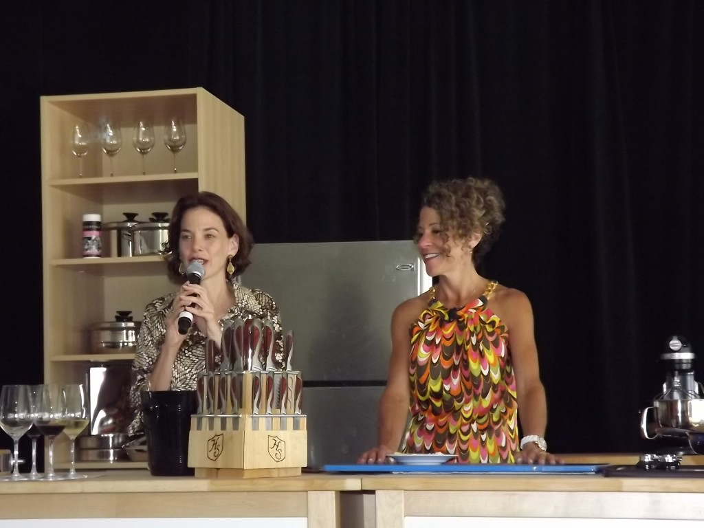 Laura Werlin (right) being introduced by Food+Wine Editor Dana Cowin
